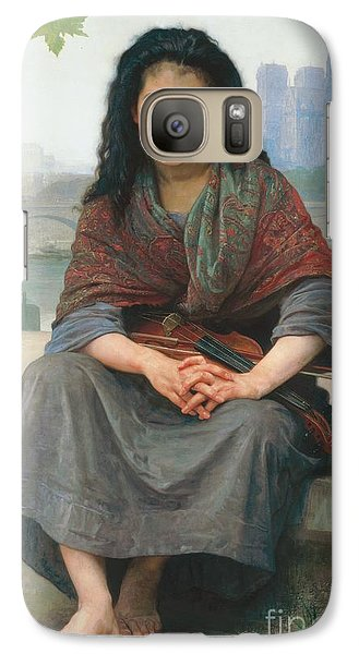 Violin Galaxy S7 Case - The Bohemian by William Adolphe Bouguereau