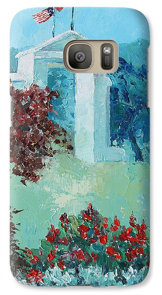 Galaxy Case featuring the painting The Border Line by Marta Styk