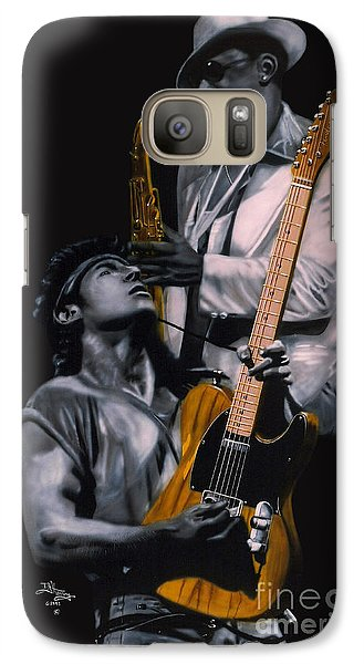 Bruce Springsteen Galaxy S7 Case - Bruce Springsteen And Clarence Clemons by Thomas J Herring