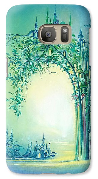 Galaxy Case featuring the painting The Boundary Bush by Anna Ewa Miarczynska
