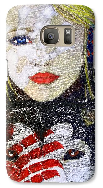 Galaxy Case featuring the drawing The Bounding by Justin Moore