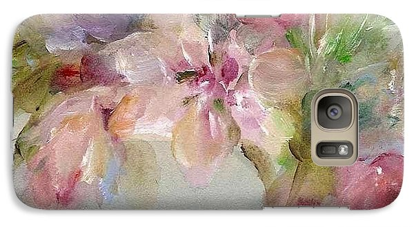 Galaxy Case featuring the painting The Bouquet by Mary Wolf