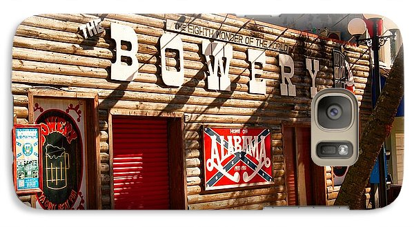Galaxy Case featuring the photograph The Bowery Myrtle Beach by Bob Pardue