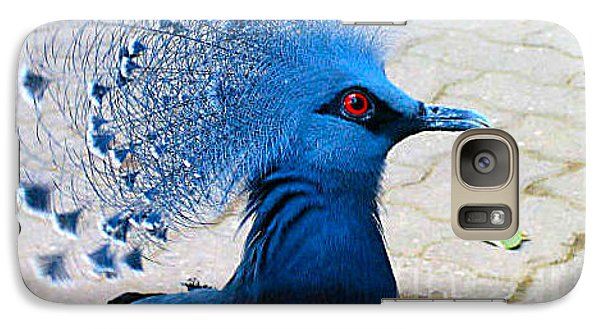 Galaxy Case featuring the photograph The Bright Blue Bird by Nina Silver