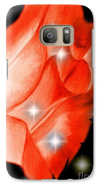 Galaxy Case featuring the painting The Brightest Star In Night Sky    Rose Art By Saribelle Rodriguez by Saribelle Rodriguez