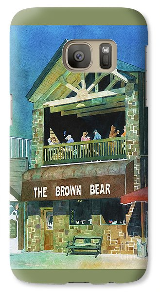 Galaxy Case featuring the painting The Brown Bear by LeAnne Sowa