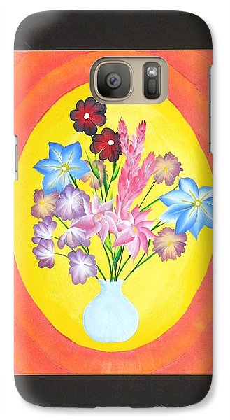 Galaxy Case featuring the painting The Bud Vase by Ron Davidson