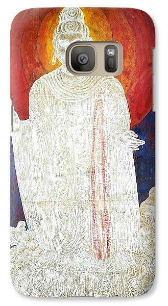 Galaxy Case featuring the painting The Buddha's Light by Fei A