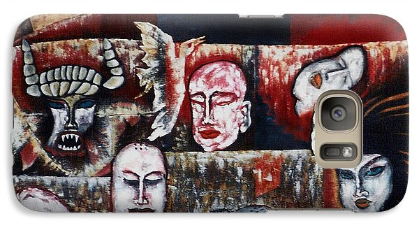 Galaxy Case featuring the painting The Buddhism Conception And The Human World by Fei A