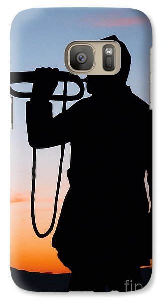 Galaxy Case featuring the painting The Bugler by Karen Lee Ensley