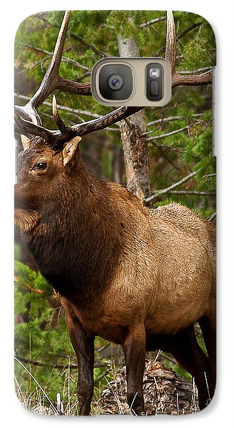 Galaxy Case featuring the photograph The Bull Elk by Steven Reed