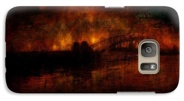 Galaxy Case featuring the digital art The Burning Of Sydney by Kim Gauge