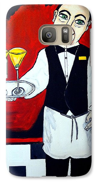 Galaxy Case featuring the painting The Butler  by Nora Shepley