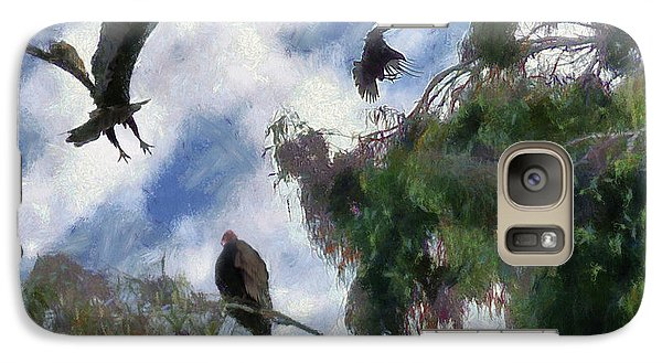 Galaxy Case featuring the digital art The Buzzard Tree by Rhonda Strickland