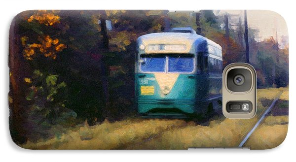 Galaxy Case featuring the painting The Cabin John Trolley by Spyder Webb