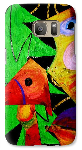 Galaxy Case featuring the painting The Call by Clarity Artists