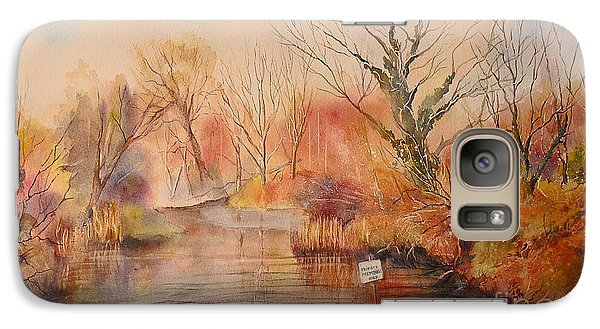 Galaxy Case featuring the painting The Canal West Hythe by Beatrice Cloake