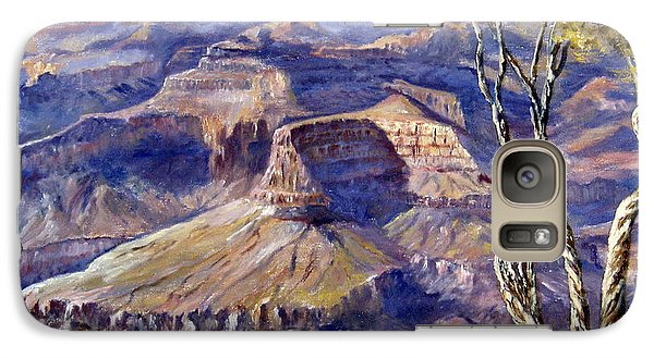 Galaxy Case featuring the painting The Canyon by Lee Piper