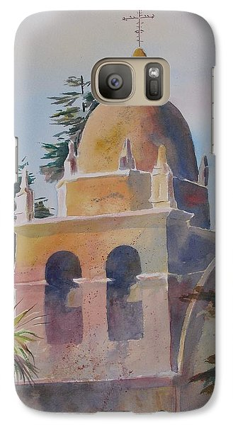 Galaxy Case featuring the painting The Carmel Mission by John  Svenson