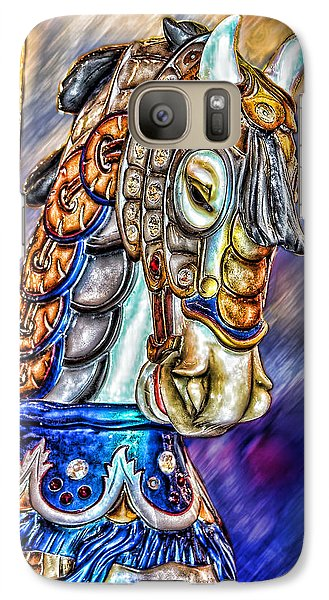 Galaxy Case featuring the painting The Carousel Horse by Mary Almond