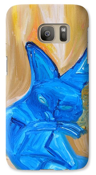 Galaxy Case featuring the painting The Cat Camelion  by Shea Holliman
