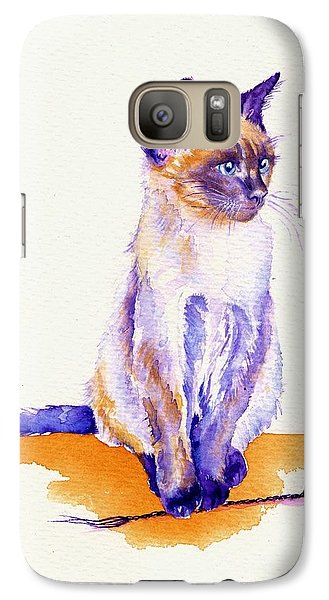 Cat Galaxy S7 Case - The Catmint Mouse Hunter by Debra Hall