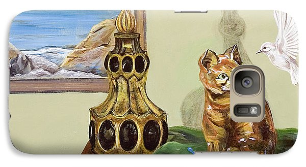 Galaxy Case featuring the painting The Cat's Meow by Susan Culver