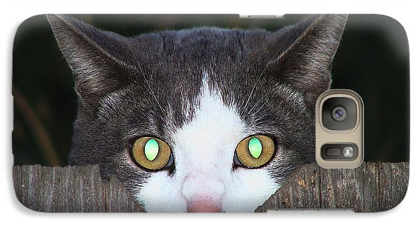 Galaxy Case featuring the photograph The Cat's Meow by Wendy McKennon