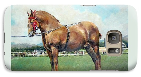 Galaxy Case featuring the painting The Champ by Donna Tucker