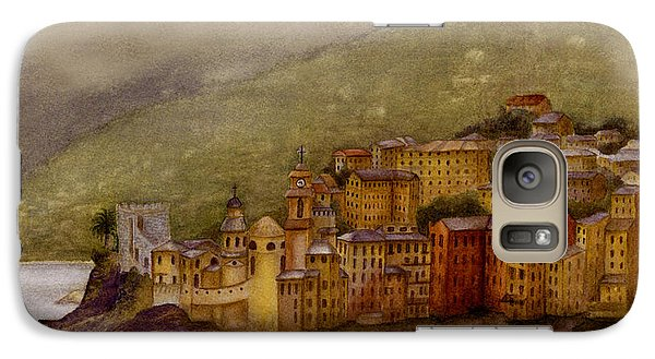 Galaxy Case featuring the painting The Charming Town Of Camogli Italy by Nan Wright