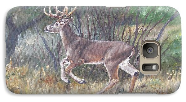Galaxy Case featuring the painting The Chase Is On by Lori Brackett