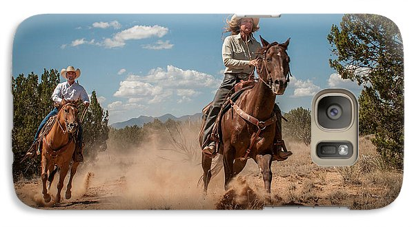 Galaxy Case featuring the photograph The Chase by Sherry Davis