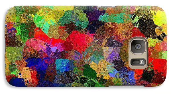Galaxy Case featuring the mixed media The Chatterers by Terence Morrissey