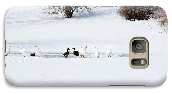 Galaxy Case featuring the photograph The Chattering Gaggle by Courtney Webster