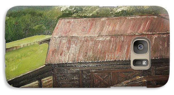 Galaxy Case featuring the painting The Cherrys Barn by Jan Dappen