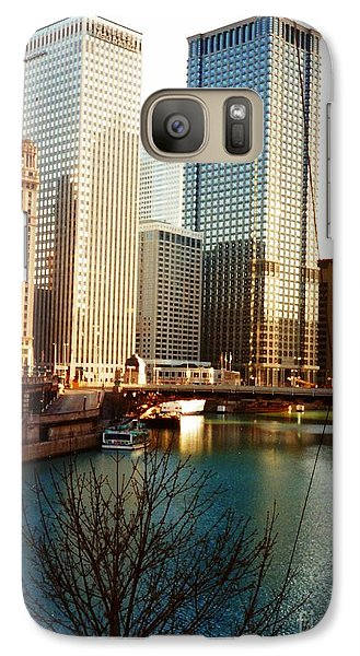 Galaxy Case featuring the photograph The Chicago River From The Michigan Avenue Bridge by Mariana Costa Weldon