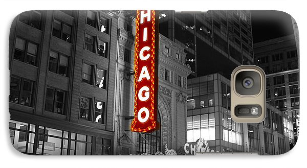 Galaxy Case featuring the photograph The Chicago Theatre by Jerome Lynch