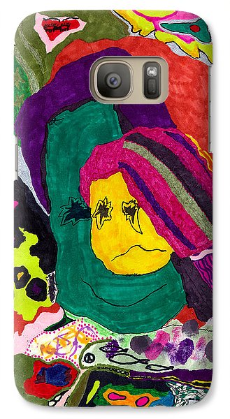Galaxy Case featuring the drawing The Child Within by Christine Perry