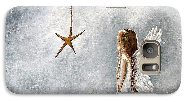 The Christmas Star Original Artwork Galaxy S7 Case by Shawna Erback