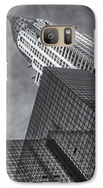 The Chrysler Building Bw Galaxy Case by Susan Candelario