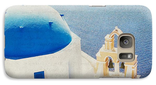 Galaxy Case featuring the photograph The Church - Santorini by Lisa Parrish