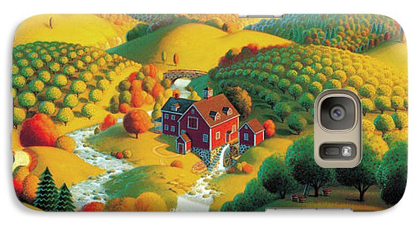 Galaxy Case featuring the painting The Cider Mill by Robin Moline