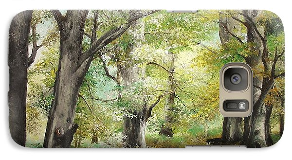 Galaxy Case featuring the painting The Clearing by Sorin Apostolescu