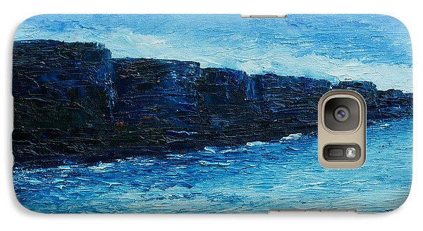 Galaxy Case featuring the painting The Cliffs by Conor Murphy