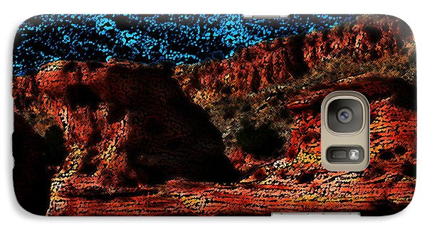 Galaxy Case featuring the digital art The Cliffs by Kathleen Stephens