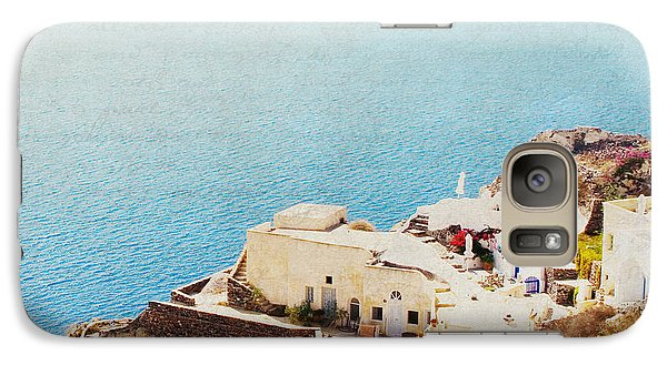 Galaxy Case featuring the photograph The Cliffside - Santorini by Lisa Parrish