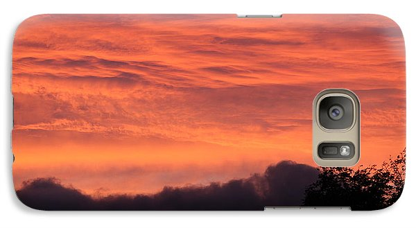 Galaxy Case featuring the photograph The Clouds On Fire by Patricia Hiltz