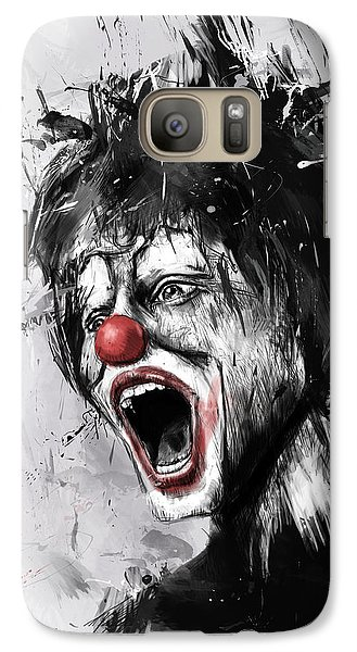Surrealism Galaxy S7 Case - The Clown by Balazs Solti