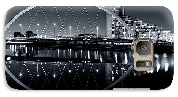 Galaxy Case featuring the photograph The Clyde Arc Black And White by Stephen Taylor