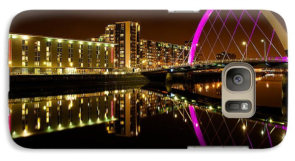 Galaxy Case featuring the photograph The Clyde Arc In Purple by Stephen Taylor